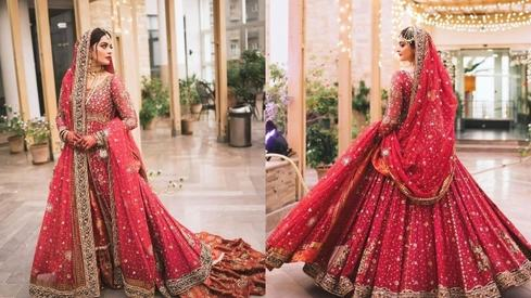 It took a 'creative village' to create Minal Khan's stunning Annus Abrar bridal outfit