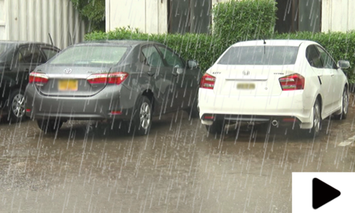 کراچی میں بارش سے گرمی کا زور ٹوٹ گیا