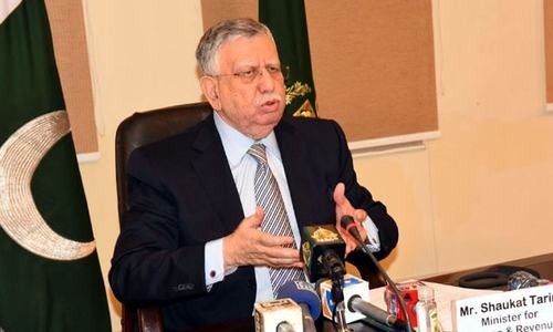 Tarin sets tax-to-GDP target at 20pc for FBR