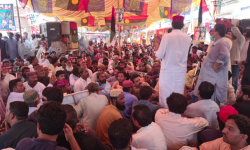 PPP rally in Sukkur condemns Khursheed's transfer to jail