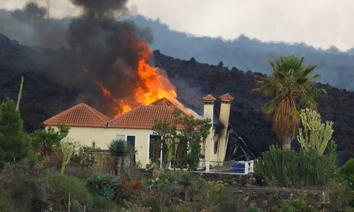 Volcanic lava destroys 100 homes in Spain's Canary Islands