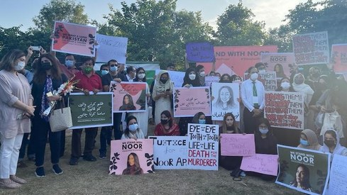 I want all daughters of Pakistan to feel and be safe, Noor Mukadam's father says at Islamabad protest