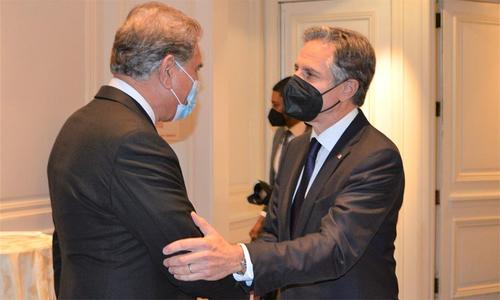 وزیر خارجہ شاہ محمود کی پہلی مرتبہ امریکی سیکریٹری آف اسٹیٹ سے ملاقات