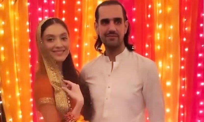 ماڈل نیہا راجپوت اورشہباز تاثیر کی شادی کی تقریبات کا آغاز