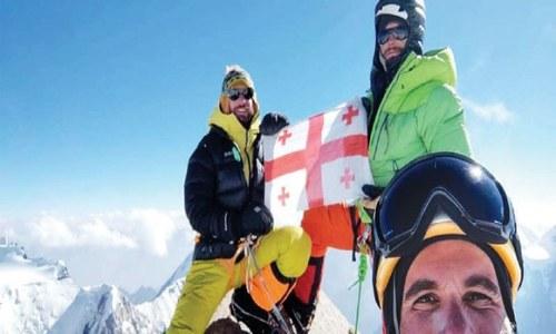 Georgian team summits Sraghar Peak in Chitral