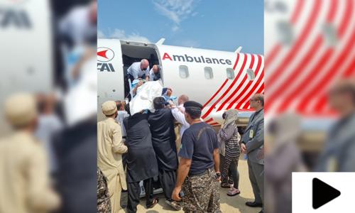 عمر شریف ایئر ایمبولینس کے ذریعے امریکا روانہ