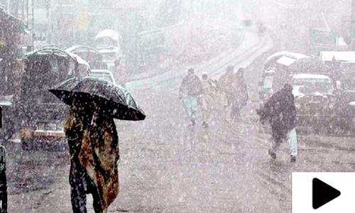 کراچی سمیت سندھ کے کئی شہروں میں تیز ہواؤں کے ساتھ بارش