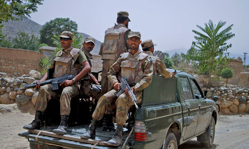 Five security personnel martyred in terrorist attack