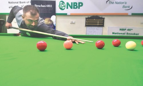 Asif, Shahid reach knockout round at national snooker