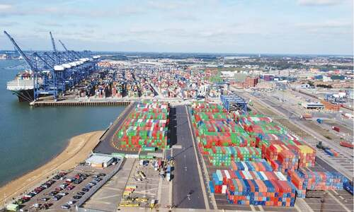 Logjam at busiest UK port linked to shortage of drivers