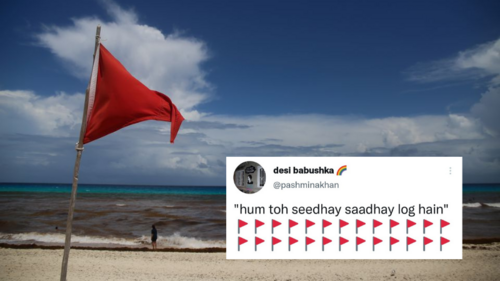 Here's why you're seeing red flags crop up on Twitter — and why we are nodding in agreement
