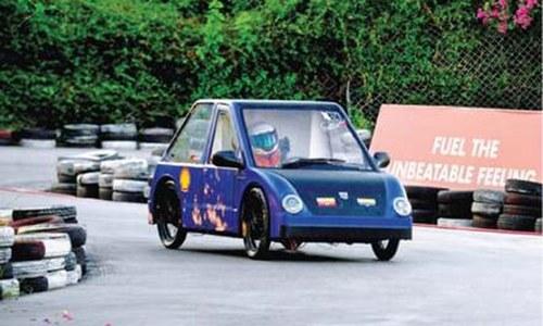 Engineering students drive self-made vehicles at eco-marathon in Pindi