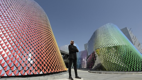 For artist Rashid Rana, the Pakistan Pavilion facade represents the country's diversity