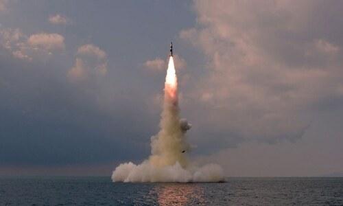 North Korea tests 'submarine-launched ballistic missile'