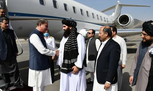 FM Qureshi in Kabul for 'high-level' talks on bilateral relations