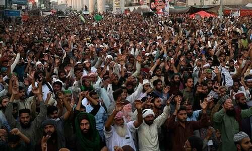 اسلام آباد میں لانگ مارچ کا اعلان: پنجاب میں 'ٹی ایل پی' کے سیکڑوں کارکنان زیر حراست