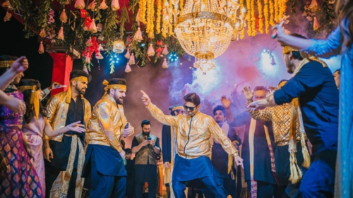 Celebrities tear up the dance floor at actor Usman Mukhtar's mehndi in Islamabad