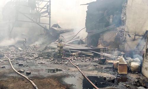 روس: دھماکا خیز مواد کی فیکٹری میں آتشزدگی، 15 افراد ہلاک
