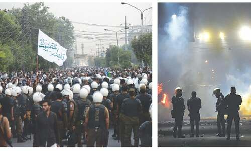 Two cops, as many TLP workers die in Lahore clashes