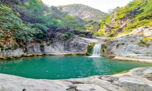Student 'discovers' Hazara area with eight waterfalls