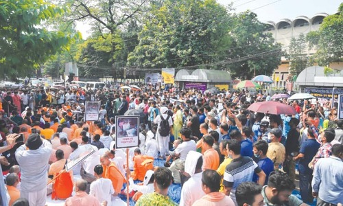 Tens of thousands rally in Bangladesh over attacks on Hindus