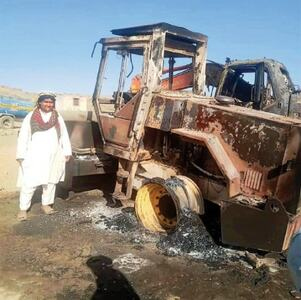 Construction machinery torched in N. Waziristan