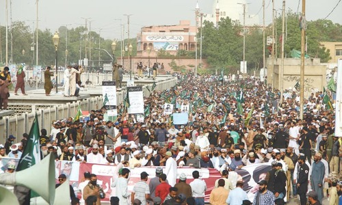 Religious parties stage rally in support of TLP in Karachi