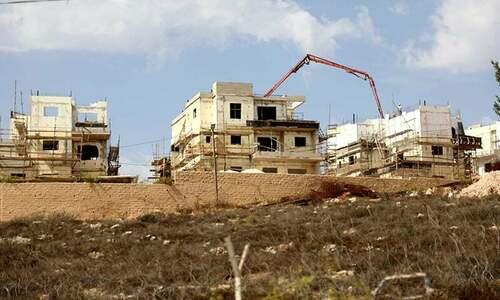 اسرائیل کا مغربی کنارے میں یہودی آباد کاروں کے 13 سو مکانات کی تعمیر کا اعلان