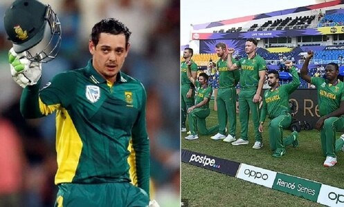 South Africa's De Kock withdraws from crucial World T20 match as players ordered to take knee