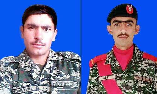 Two soldiers martyred in exchange of fire with terrorists in KP's Kurram district: ISPR
