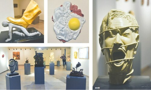 Sculpture exhibition showcasing works of Sindh's artists opens