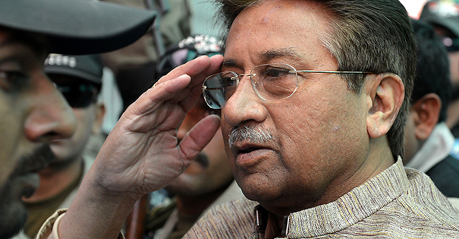 Former military ruler retired Gen Pervez Musharraf. — File Photo