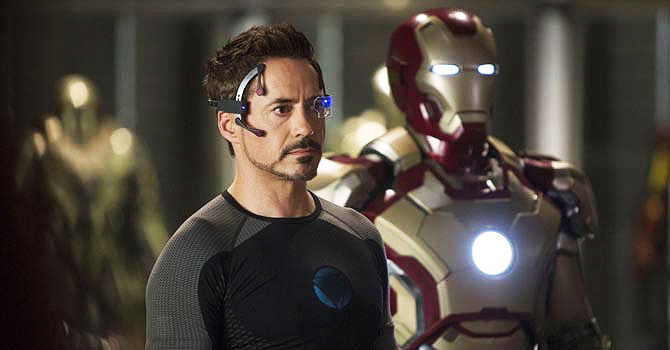 """Iron Man 3? co-stars Don Cheadle and Gwyneth Paltrow have two different stories about the armour they wear in the movie. — Courtesy Photo"