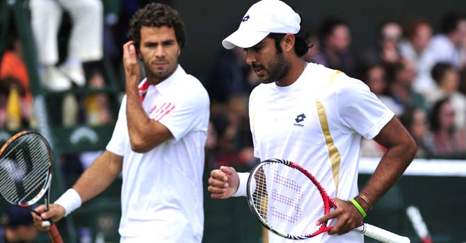 Aisam ul Haq Qureshi and Jean Julien Rojer. -File photo