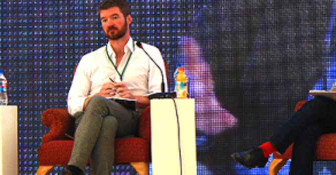 Declan Walsh at Karachi Literature Festival. — Dawn.com photo