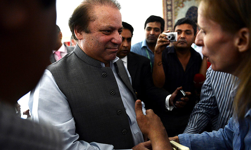PML-N swept Punjab to secure a huge mandate, enjoying clear majority as opposed to other political parties. -Photo by AFP