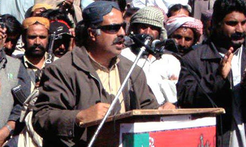 Sanaullah Zehri giving a speech. — File Photo