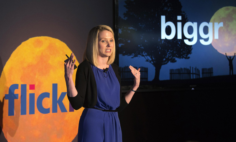 Yahoo Chief Executive Marissa Mayer speaks at a news conference in New York May 20, 2013. — Reuters Photo