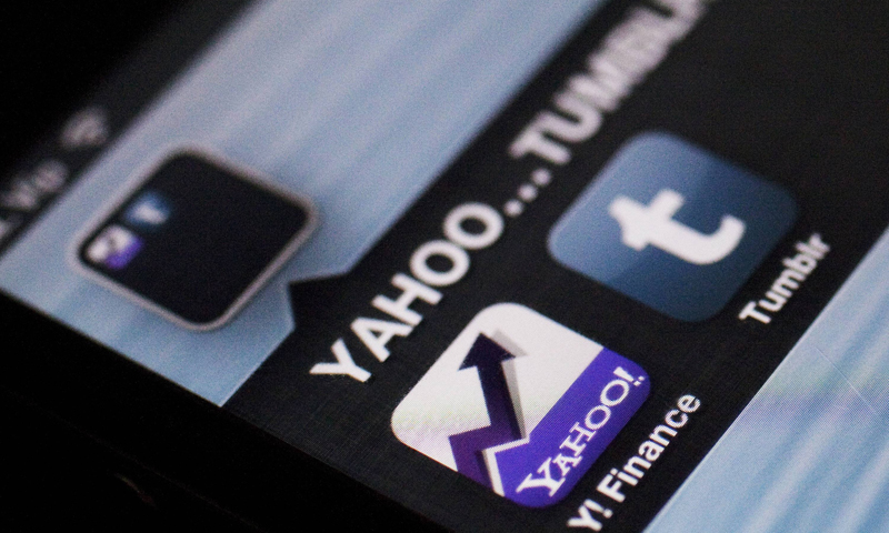 A photo illustration shows the applications of Yahoo and Tumblr on the screen of an iPhone in Zagreb May 20, 2013. — Reuters Photo