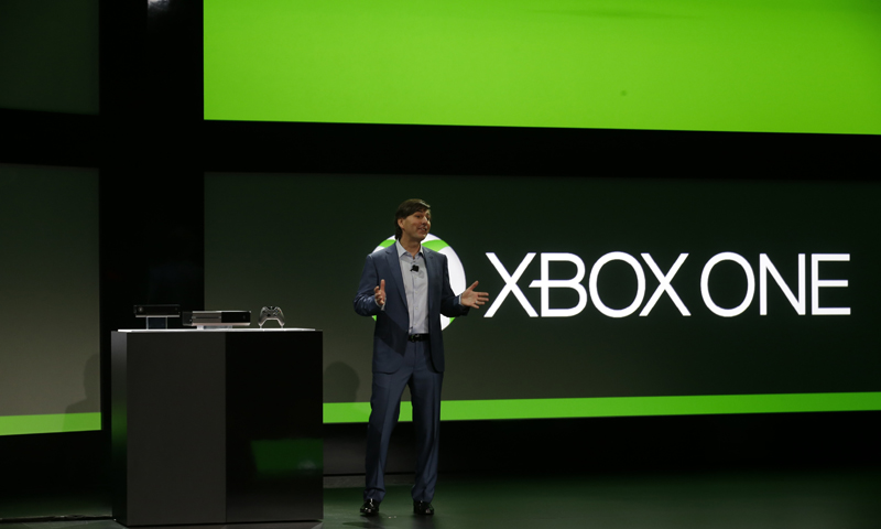 Microsoft Corp.'s Don Mattrick unveils the next-generation Xbox entertainment and gaming console system, at an event in Redmond, Washington — AP Photo