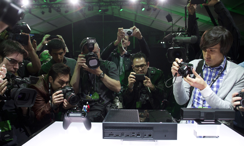 Xbox One following the Xbox One reveal event on Tuesday, May 21, 2013, in Redmond. — AP Photo
