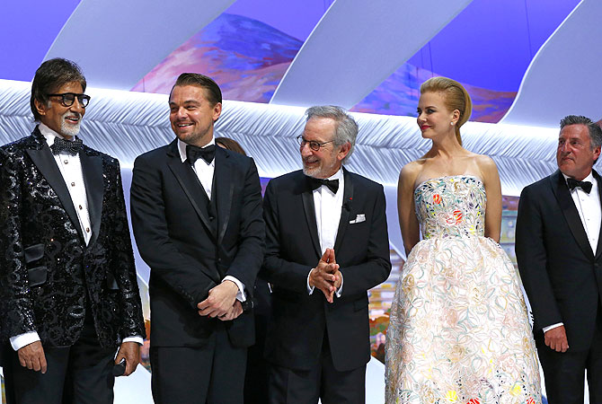 (From L) Steven Spielberg, General Delegate of the Cannes Film Festival Thierry Fremaux, Nicole Kidman, Romanian director Cristian Mungiu and Taiwanese director Ang Lee. — Courtesy Photo