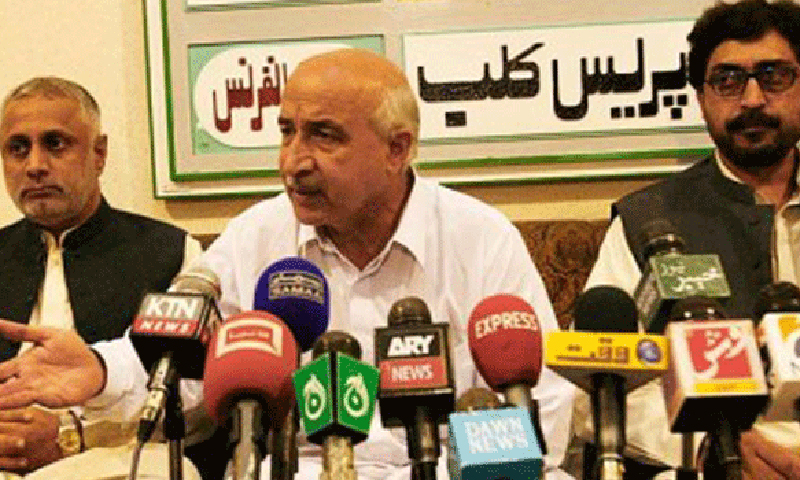 National Party (NP) President Dr Malik Baloch (C). — File Photo