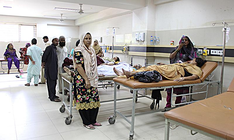 Jinnah Hospital emergency ward. — Photos by Shameen Khan/Dawn.com