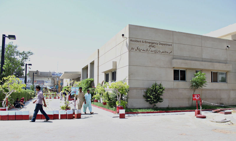 Karachi's JPMC emergency department. — Photos by Shameen Khan/Dawn.com
