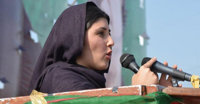 Aisha Gulalai is the first female MNA from restive tribal areas. – Photo courtesy Insaf.pk