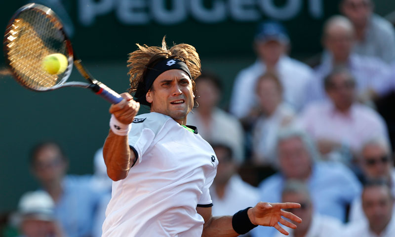Right from the get go, Spain's David Ferrer had the better of France's Jo-Wilfried Tsonga. — AP Photo