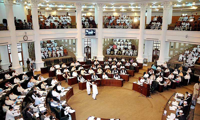 A view of the Khyber Pakhtunkhwa Assembly. — File photo