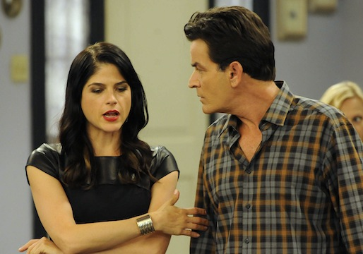 L-R: Selma Blair as Kate Wales, Charlie Sheen as Charlie Goodson. — Courtesy Photo by FX Network