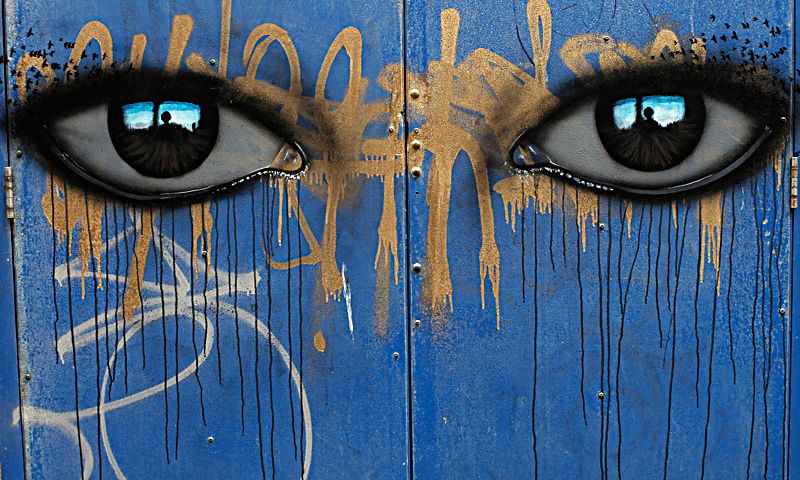 "A mural is seen painted on the side of a building in Blackpool, northern England June 18, 2013. The mural is part of the ""Sand, Sea and Spray"" outdoor art festival, which has seen 40 urban artists from around the world paint murals on buildings across the town centre. — Reuters Photo"